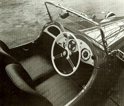 Cockpit of 1951 Singer SM Roadster