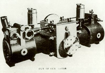 The original Stevens-Duryea engine, this image circa 1903