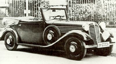 1927 Stoewer two-seater runabout