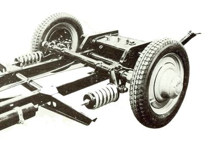 Rear suspension setup of the Stoewer Grief model