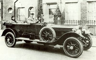 1921 Sunbeam 24/60 HP with the Earl of Lytton at the wheel