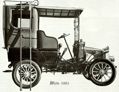 1903 White Steam Carriage, produced by the White Sewing Machine Company of Cleveland