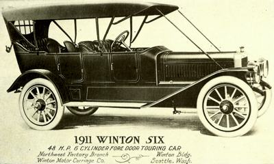 1911 Winton Six, powered by a 48hp engine