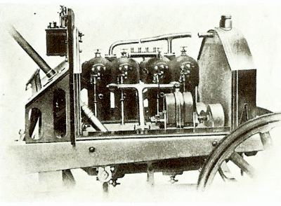Zust 18/24hp engine mounted in chassis